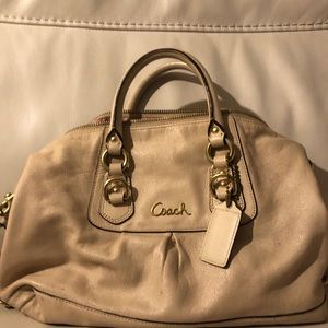 Cream Used Coach Purse